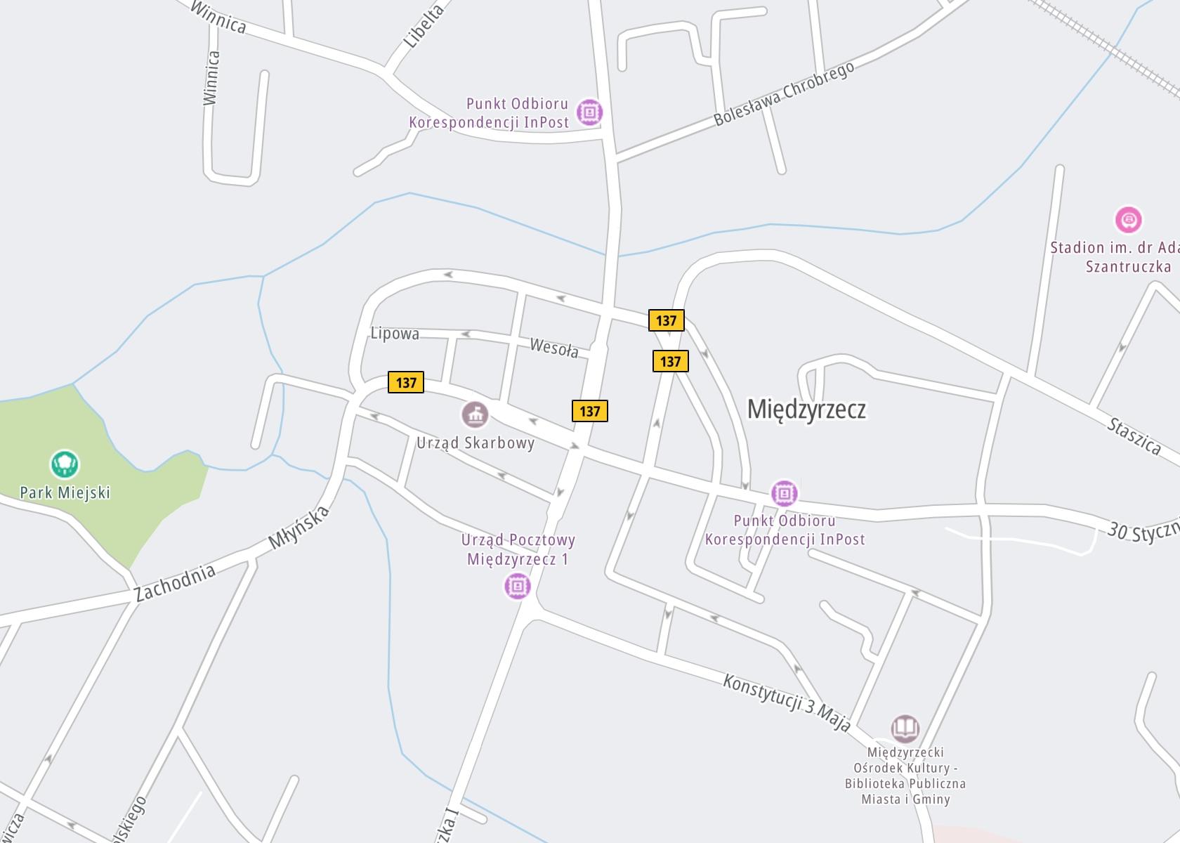Położenie Międzyrzeckie Centrum Leczenia Uzależnień Teresa Wagner i Wspólnicy na mapie