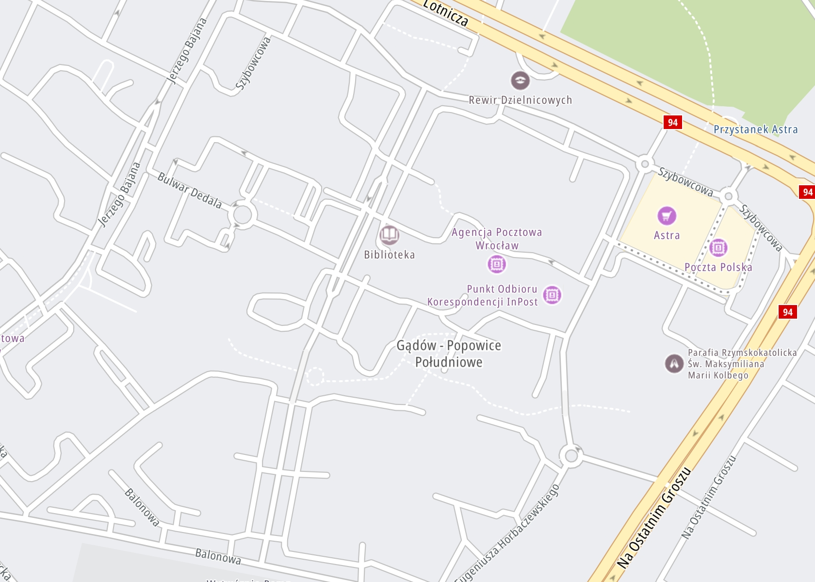 Położenie PORADNIA TERAPII UZALEŻNIENIA – Dariusz Kiełkiewicz, NZOZ Centrum Ikar Wrocław na mapie