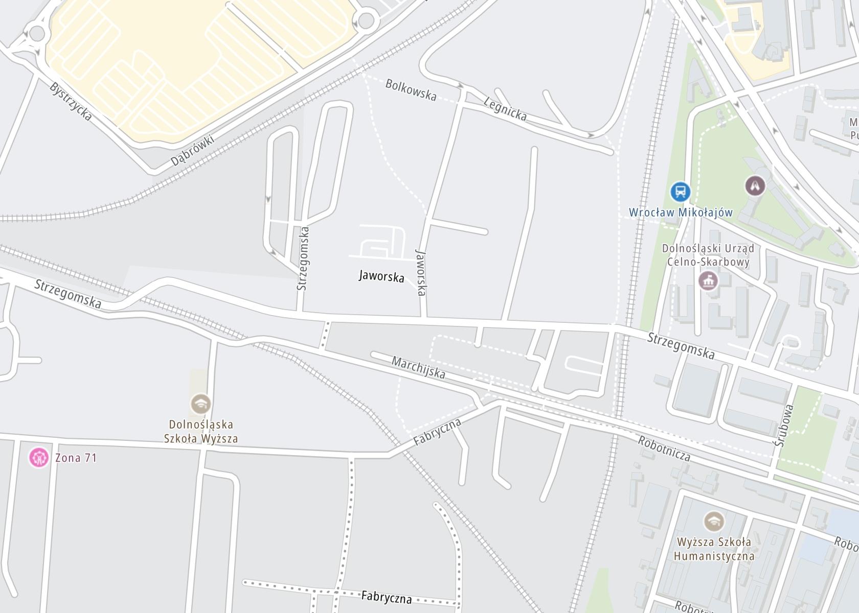 """Położenie Ośrodek Psychoterapii i Rozwoju Osobowości """"Better"""" – Strzegomska Wrocław na mapie"""