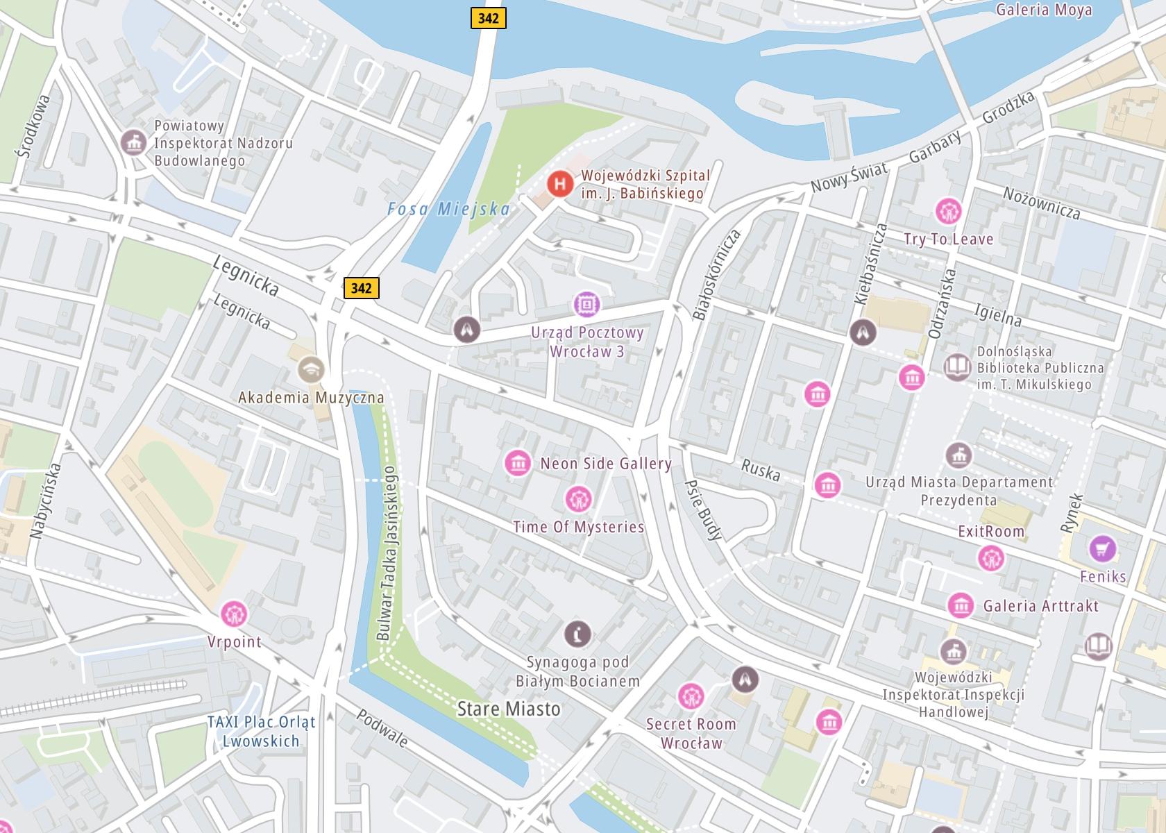 Położenie Detoks alkoholowy i odtrucie alkoholowe -Detox Wrocław na mapie