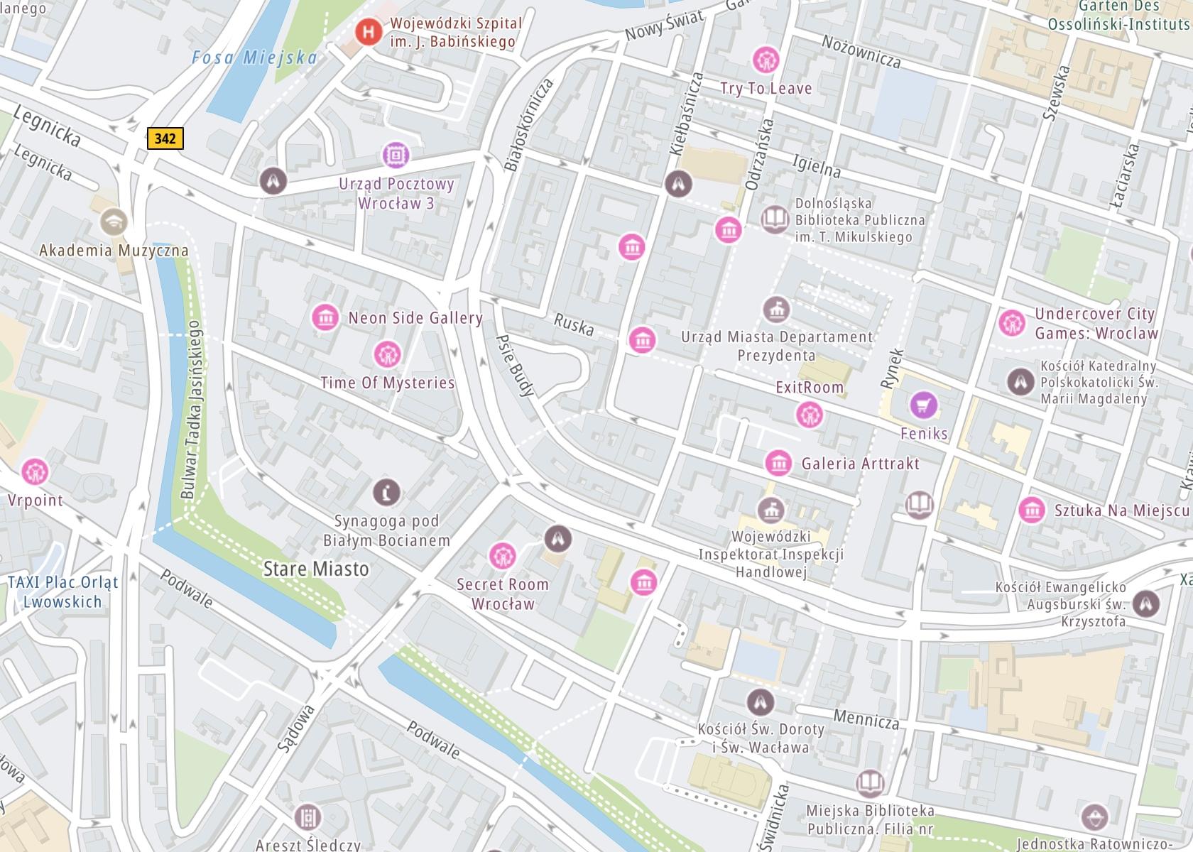 Położenie Poradnia psychologiczna i uzależnień alkoholowych – Ego Progres Wrocław na mapie