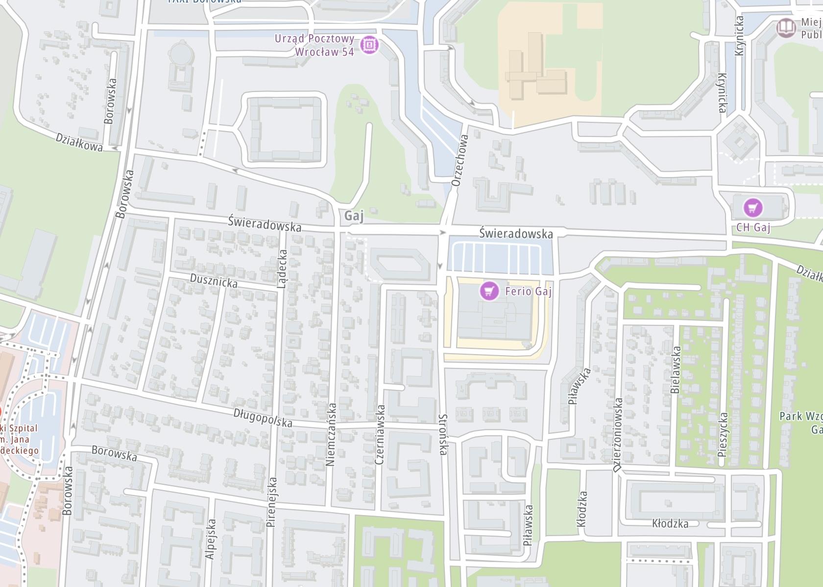 Położenie ESPERAL WROCŁAW – wszywka alkoholowa w klinice Disulmed na mapie