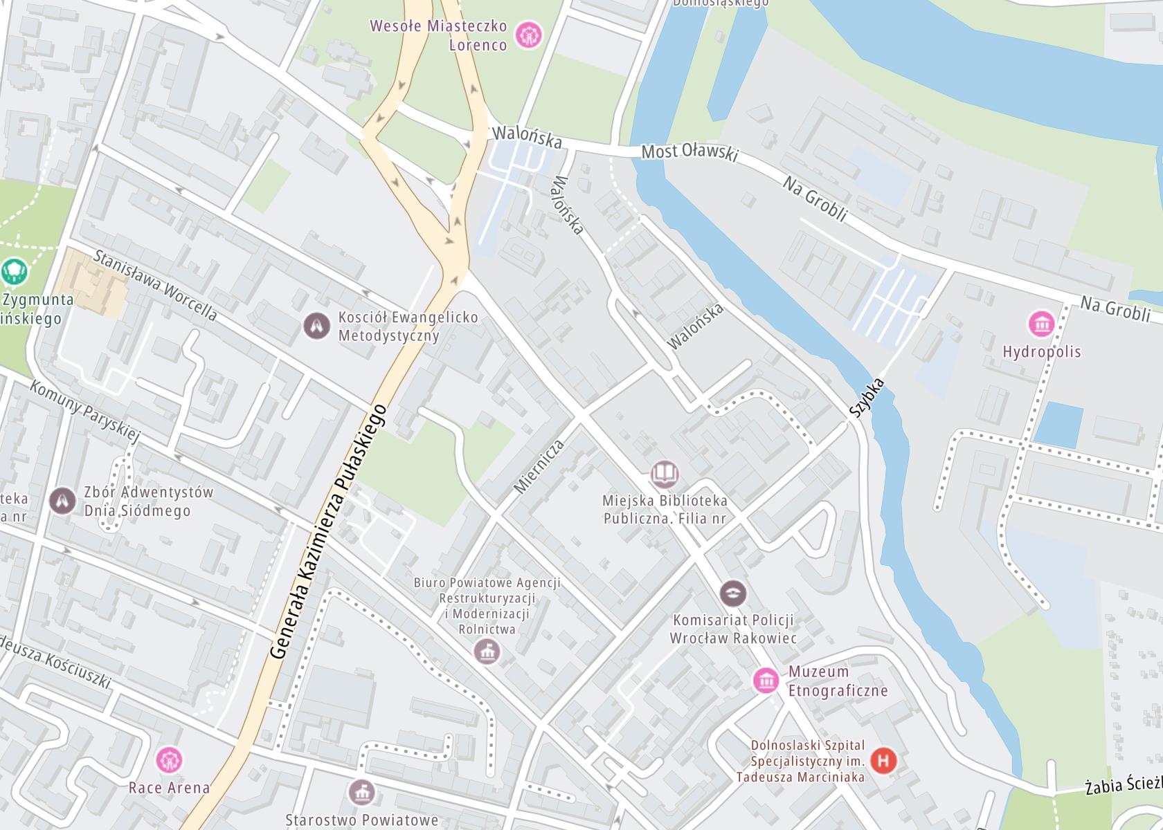 Położenie NZOZ – Poradnia terapii uzależnienia od alkoholu – Karan Wrocław na mapie