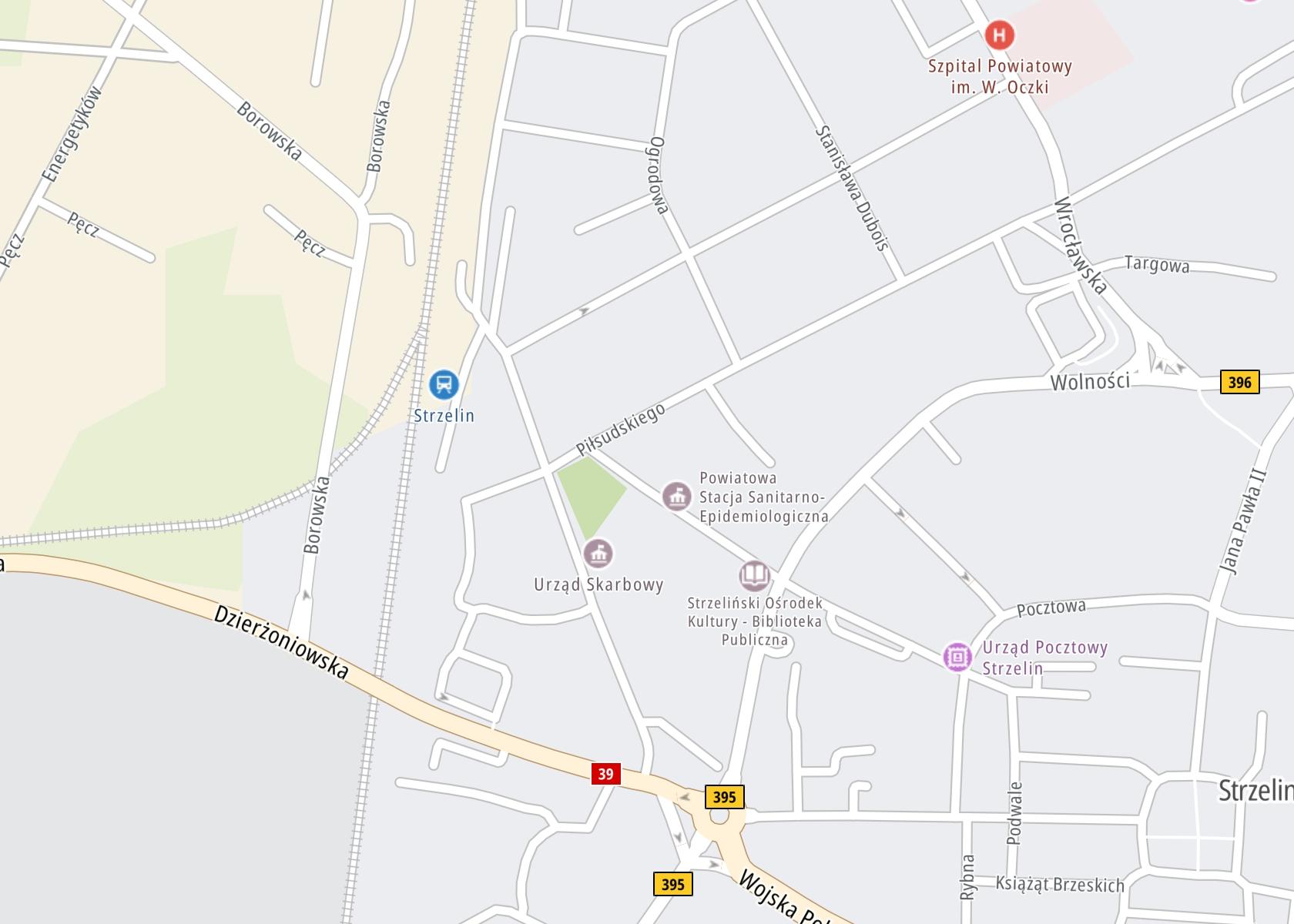 Położenie PZLA Przychodnia Rejonowo-Specjalistyczna na mapie