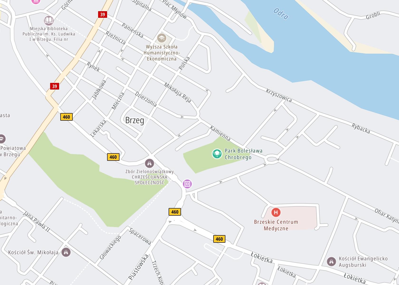 Położenie Specjalistyczna poradnia ZOZ Beta s.c. Brzeg na mapie