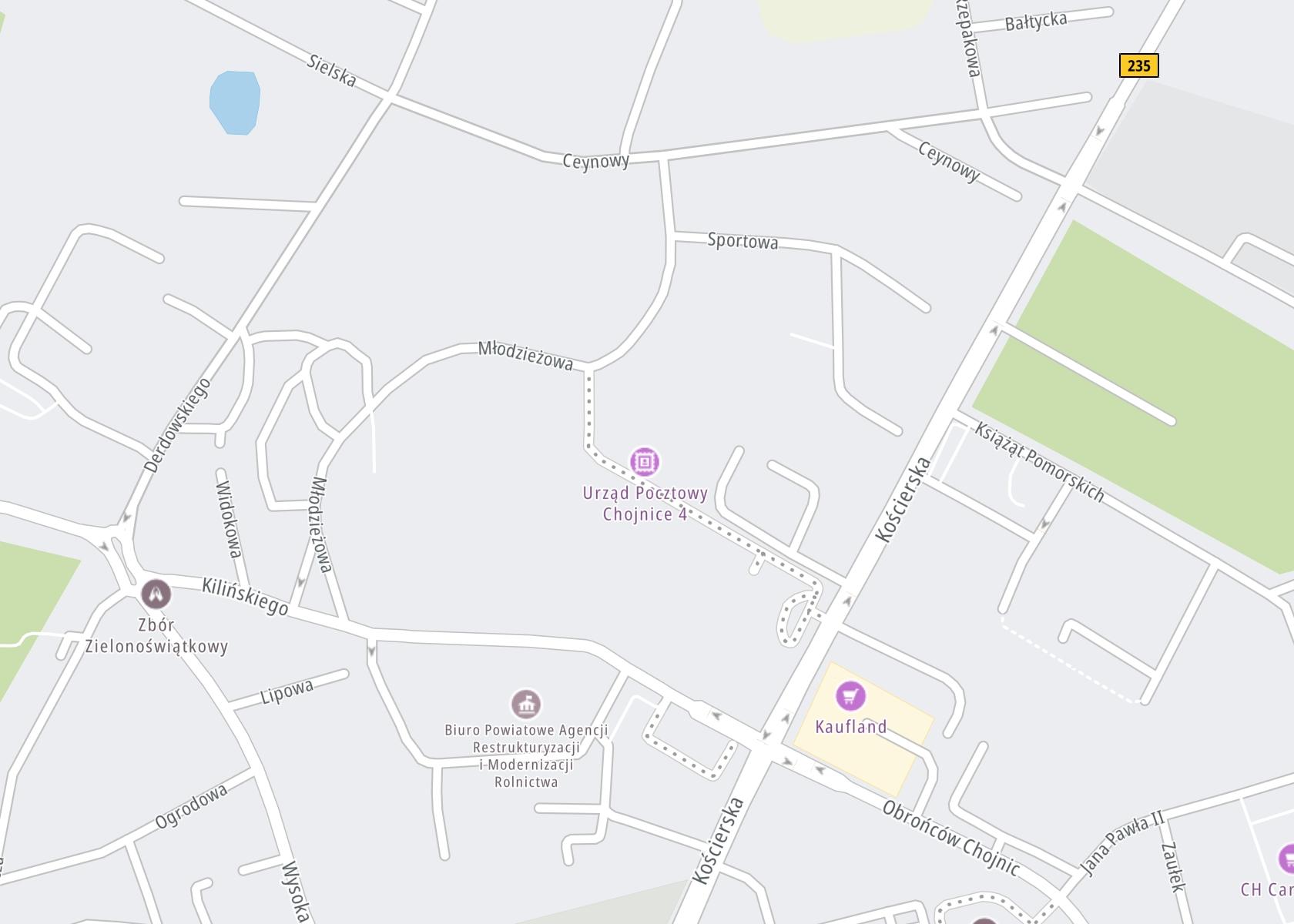 Położenie Promedica sp. z o.o. Ośrodek Wsparcia Psychicznego w Chojnicach na mapie