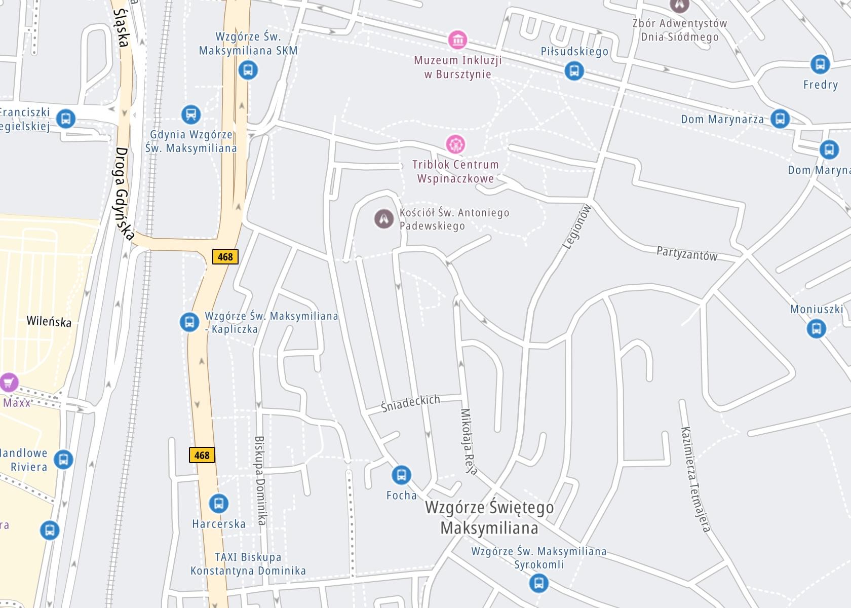 Położenie Ośrodek Profilaktyki i terapii uzależnień w Gdyni na mapie