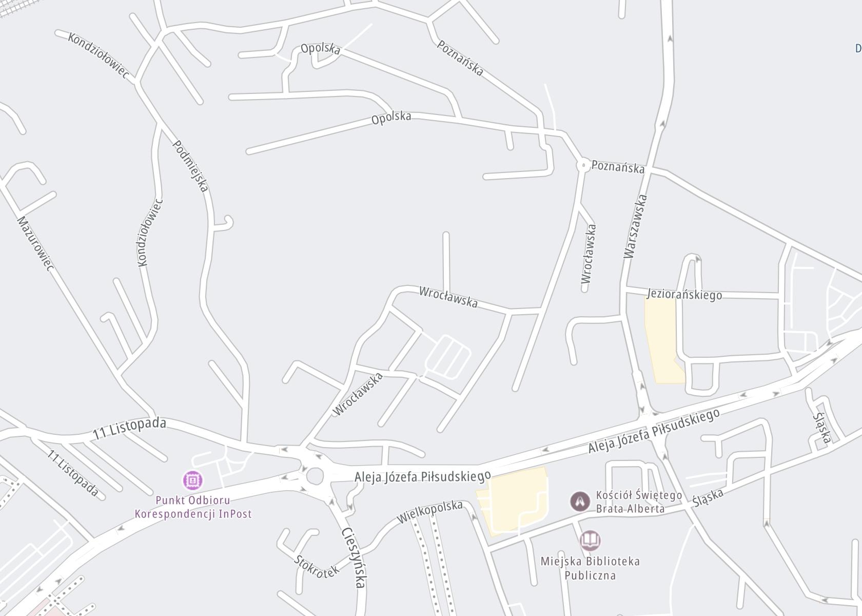 Położenie Poradnia Leczenia Uzależnienień od alkoholu – NWZOZ Salus Jastrzębie Zdrój na mapie