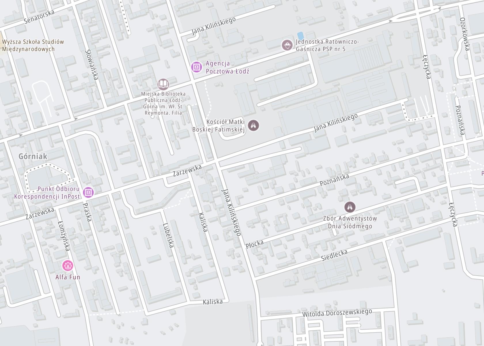Położenie Miejskie Centrum Terapii i Profilaktyki Zdrowotnej – Zakład Psychoterapii Uzależnień Poradnia Leczenia Uzależnień na mapie