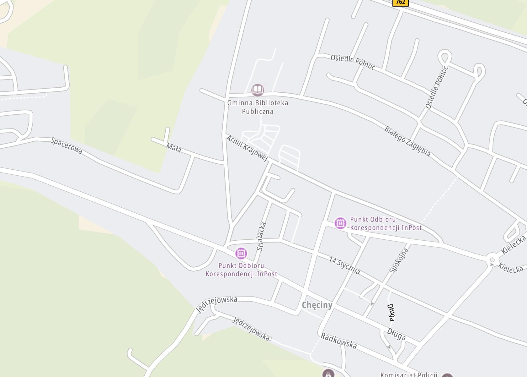 Położenie Poradnia Leczenia Uzależnień w Klasztorze Franciszkanów w Chęcinach na mapie