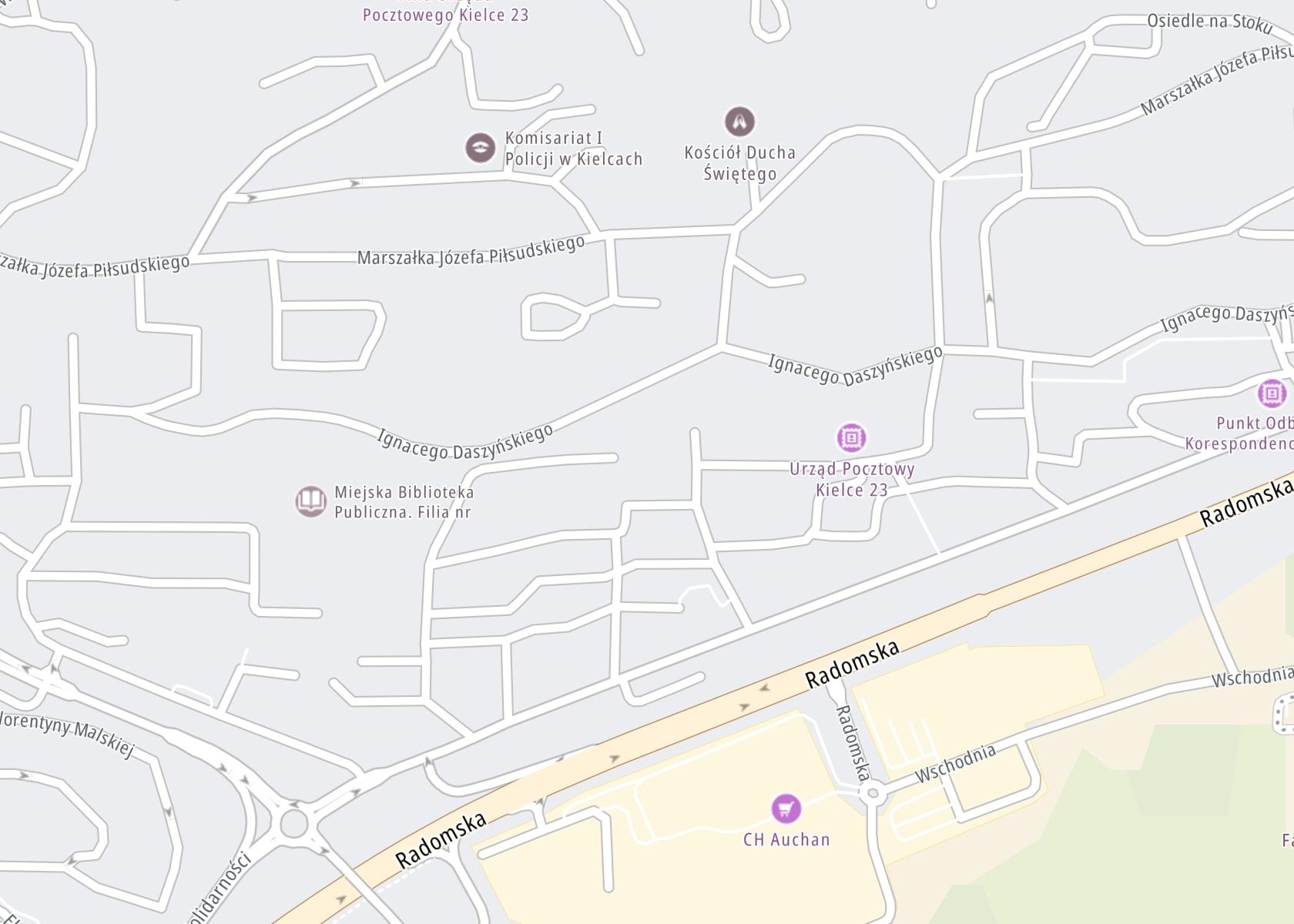 Położenie Ośrodek Terapii Uzależnienia i Współuzależnienia w Kielcach na mapie