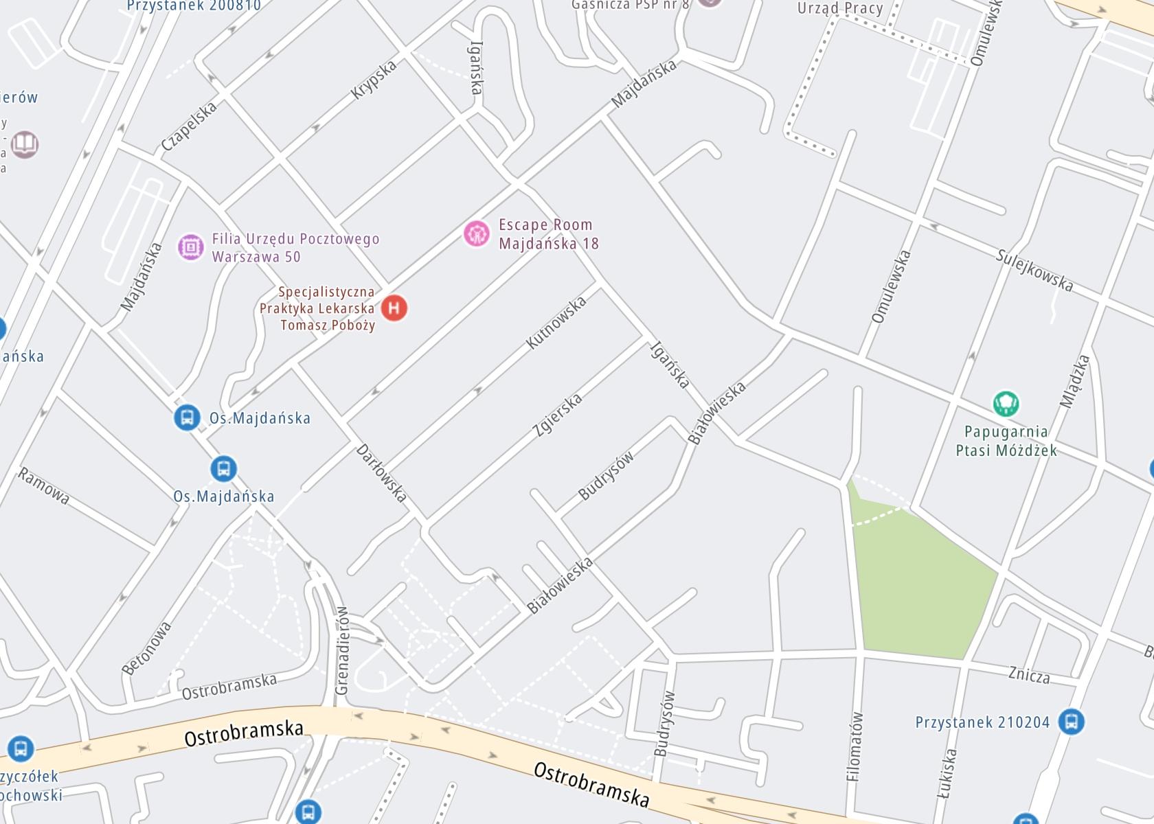 Położenie SP ZOZ Centrum Odwykowe Poradnia Odwykowa na mapie