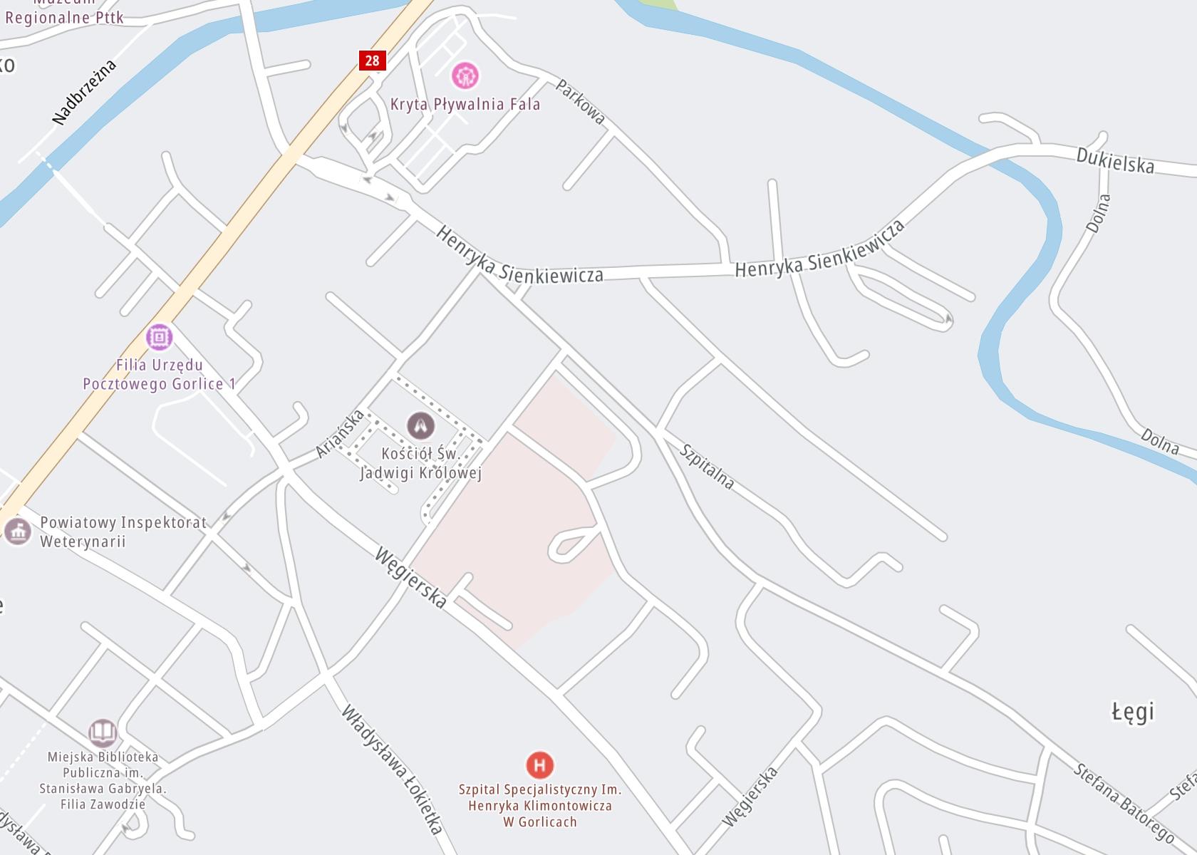 Położenie Poradnia dla Dzieci i Młodzieży na mapie