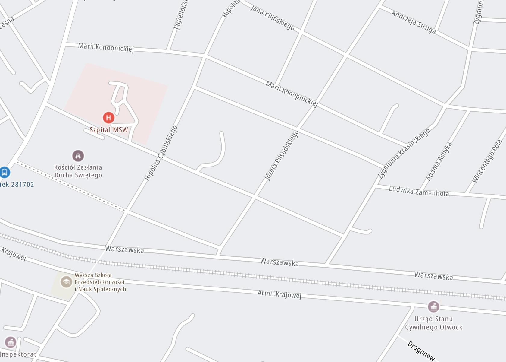 Położenie SP ZOZ Szpital Specjalistyczny MSWiA Poradnia Leczenia Uzależnień na mapie